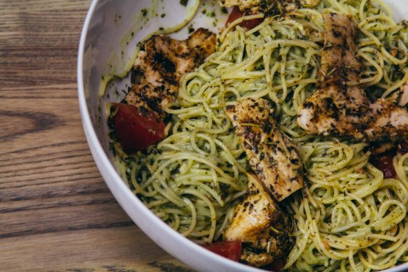 Pesto Pasta w Chicken-3