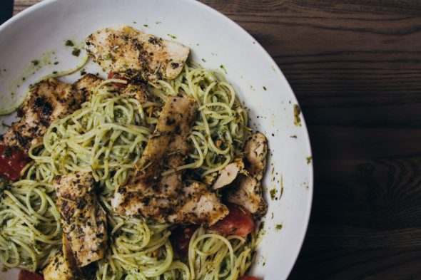 Pesto Pasta w Chicken-5